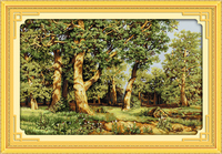 oneroom Oak forest morning Counted Cross Stitch 11CT Printed 14CT Set DIY Chinese Cotton Cross stitch Kit Embroidery Needlework