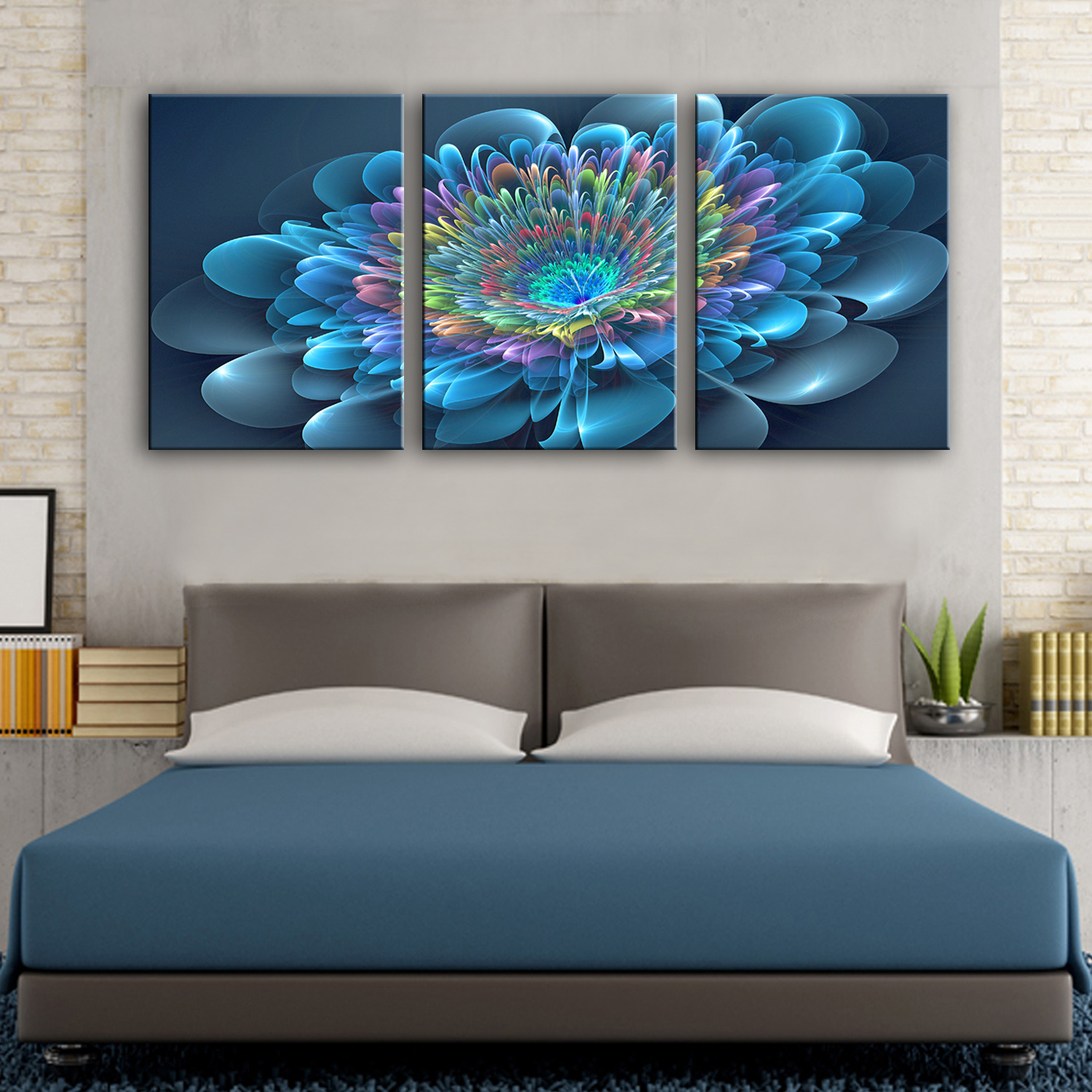 Us 5 93 40 Off Drop Shipping Colorful Wall Paintings Wall Art Canvas Prints Home Decor Living Room Modular 3 Pieces Canvas Art Flower Pictures In