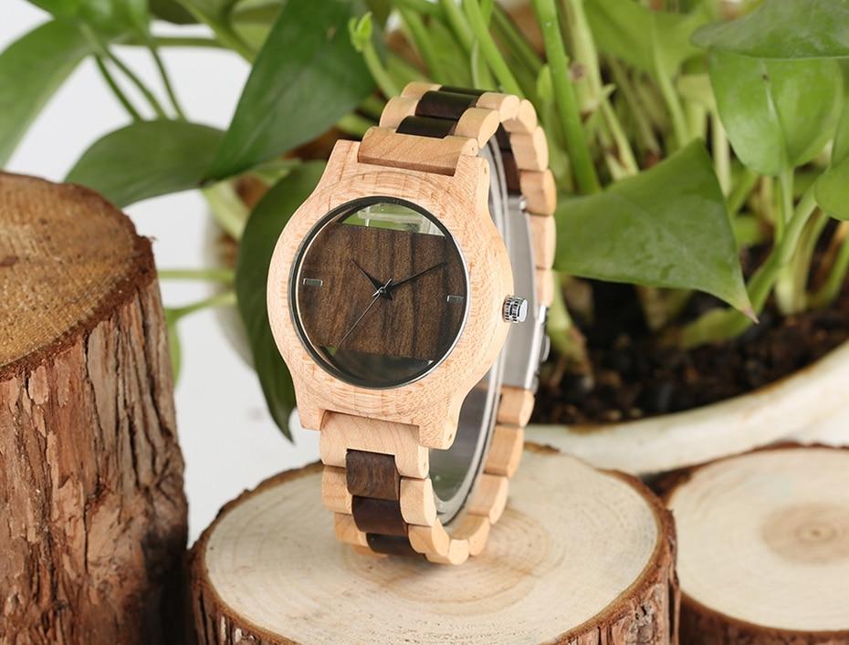 Top Luxury Full Bamboo Wood Quartz Watch Mens Hollow Analog Handmade Bracelet Sports Wristwatch Male Simple reloj de hombre 2017 2018 Gifts (35)