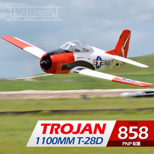 airplane drone FMS 1100 mm red T – 28 d trojans aircraft fixed-wing electronic remote control aircraft