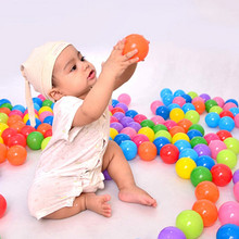 50pcs/lot Eco-Friendly Colorful Soft Plastic Water Pool Ocean Wave Ball Baby Swim Funny Toys Stress Air Ball Outdoor Fun Sports