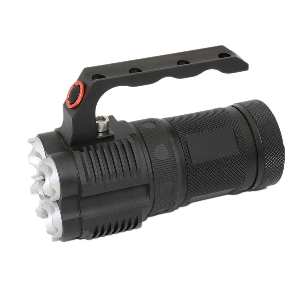 LED Flashlight 4 * XM L2 LED 4500LM Light 40W Powerful