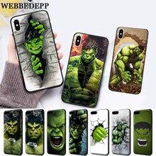 WEBBEDEPP Marvel Comic Superhero Hulk Painted Silicone soft Case for iPhone 5 SE 5S 6 6S Plus 7 8 11 Pro X XS Max XR
