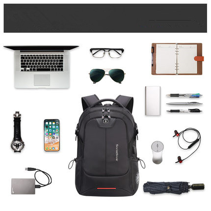 Capacity male bag fashion travel usb charging waterproof bag 1