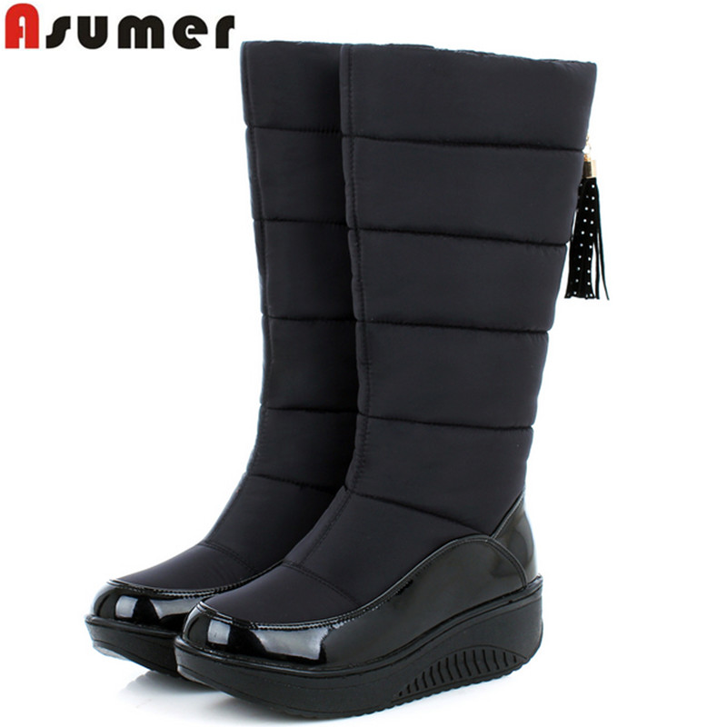 ASUMER 2016 new winter warm snow boots fashion platform