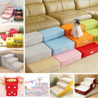 New Multi color Pet Dogs Jumping Stairs Can Be Folded 2 Steps for the Puppy Dog Cat Mattress Dog House Pet Supplies