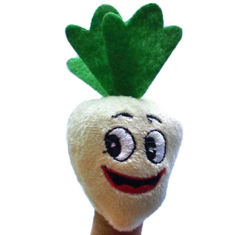 10Pcs Funny Finger Puppets Educational Toys Baby Fruits and Vegetables Finger Plush Puppet Child Early Education Toys Gift