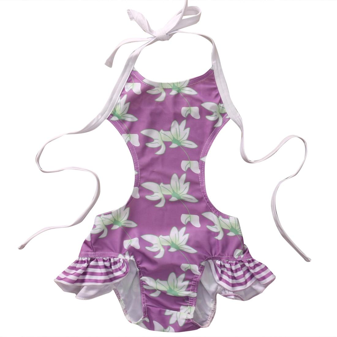 Детская одежда для малышей для девочек цветочный бикини, танкини Купальники для малышек купальный костюм От 0 до 6 лет