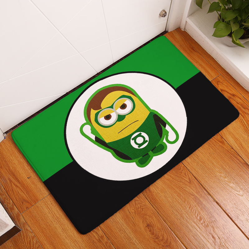 2017 New Cartoon Hero Print Carpets Non-slip Kitchen Rugs for Home Living Room Floor Mats 40x60cm