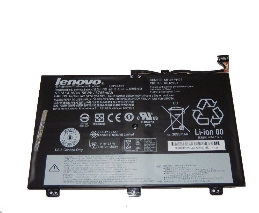 Genuine Original Laptop Battery for Lenovo ThinkPad S3 Yoga 14 20DM 20DN 00HW001 SB10F46439 00HW000 SB10F46438 4ICP7/52/76 3 75v 9000mah new original laptop battery for yoga 10 tablet b8000 10 battery l13d3e31 l13c3e31 batteries free shipping