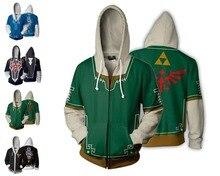 The Legend of Zelda: Breath the Wild Man Woman Hoodies Casual Cool Cosplay Coat Jacket Fashion Tops Full Zip Sweatshirts