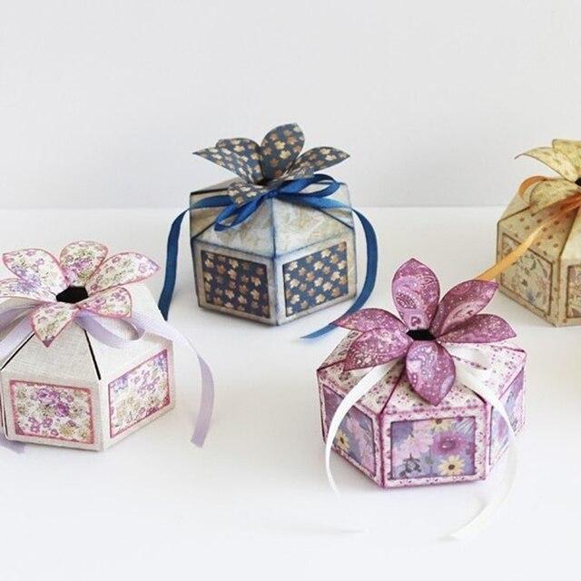 Swovo Corte De Metal Morre Nova caixa dos doces Do Presente Costurado 3D DIY Scrapbooking Selos Craft Embossing Die Tomada de Corte Template Stencil