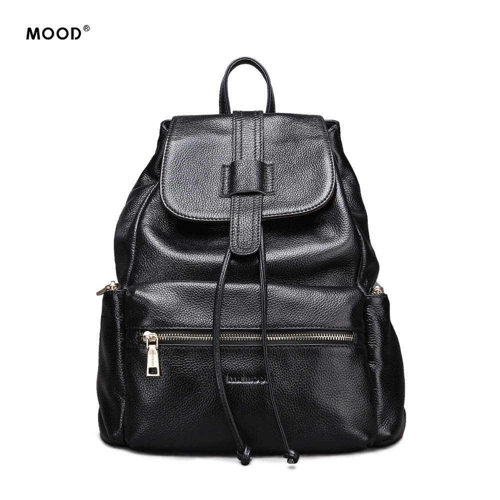 MOOD Brand Genuine Leather backpack fashion leisure wind soft backpack High quality large capacity travel bag free shipping free shipping high quality ink cartridge compatible for hp835 836 ip1188 large capacity