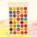 2 unids/set el Nuevo Encanto 40 Troquelado Emoji Sonrisa de Pegatinas Para Portátiles Mensaje de Alta Vinilo Divertido Lindo Creativo de Los Niños Juguetes