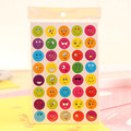 2pcs/Set New Lovely 40 Die Cut Emoji Smile Sticker For Notebook Message High Vinyl Funny Creative Cute Kids Toys