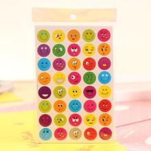 2pcs Set New Lovely 40 Die Cut Emoji Smile Sticker For Notebook Message High Vinyl Funny