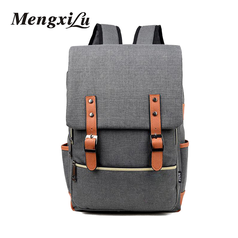 2017 Vintage Women Canvas Backpacks For Teenage Girls School Bags Large High Quality Mochilas Escolares New Fashion Men Backpack