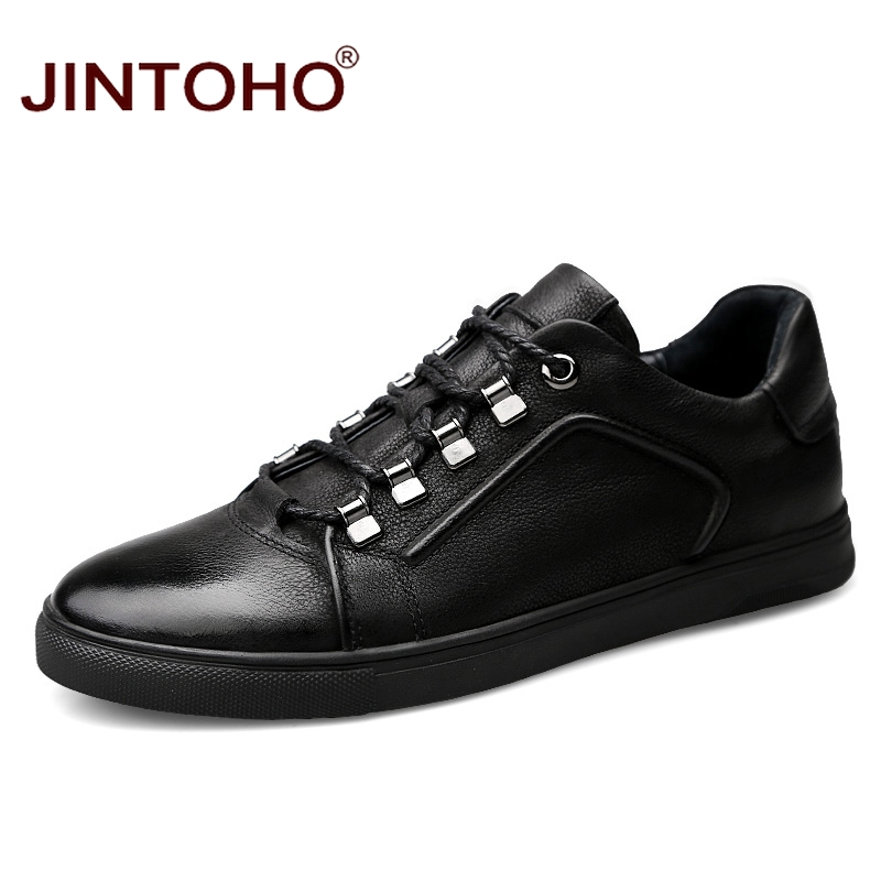 JINTOHO High Quality Fashion Casual Men Genuine Leather Shoes Luxury Brand Men Shoes Designer Men Flats Shoes Leather Moccasins коврик для ванной iddis curved lines 50x80 см 402a580i12 page 1