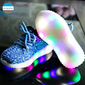 2017 New 2 to 10 years old baby boy and girl casual sport shoes soft bottom children running shoes kids sneakers LED light shoes
