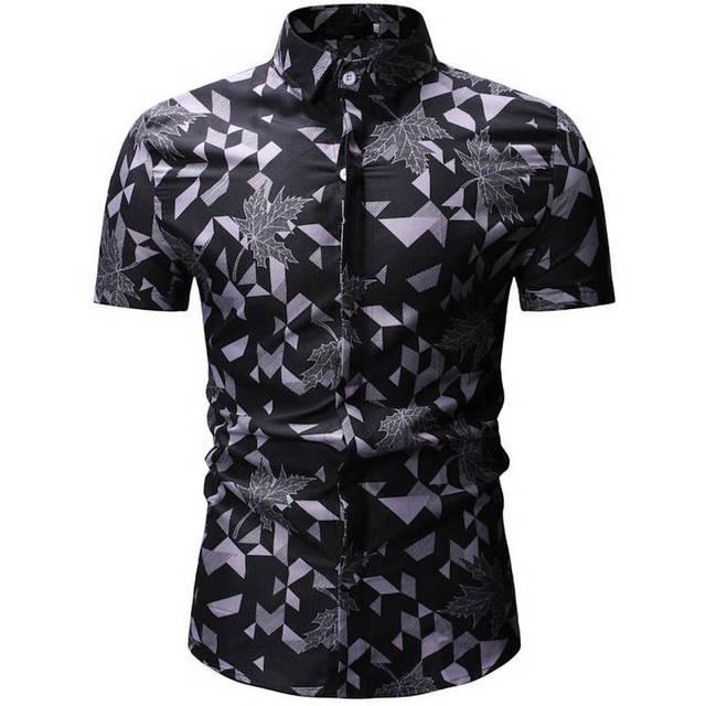 Herren Sommer Strand Hawaiian Shirt 2019 Marke Kurzarm Plus Floral Shirts Europäischen größe M-3XL 26 farbe Männer Kleidung Camisas