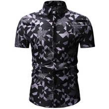 Mens Summer Beach Hawaiian Shirt 2019 Brand Short Sleeve Plus Floral Sh