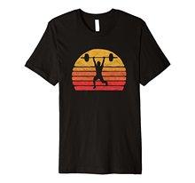 2018 New Summer Casual Tee Shirt Retro Vintage Weightliftin T-Shirt - Eighties Powerlifter