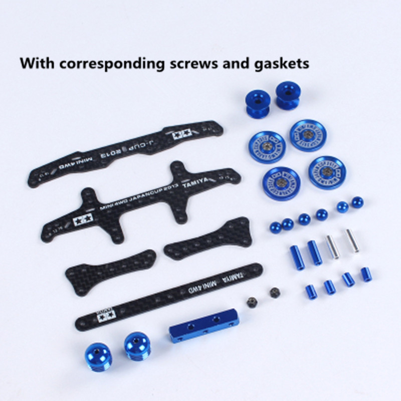 Free Shipping 1 Set MA/AR Chassis Modification Spare Parts Set Kit 2013 J-CUP Version For Tamiya Mini 4WD RC Car Model H002 free shipping 1 set ma ar s2 ms fm chassis modification spare parts set kit 2017 j cup version for tamiya mini 4wd rc car model