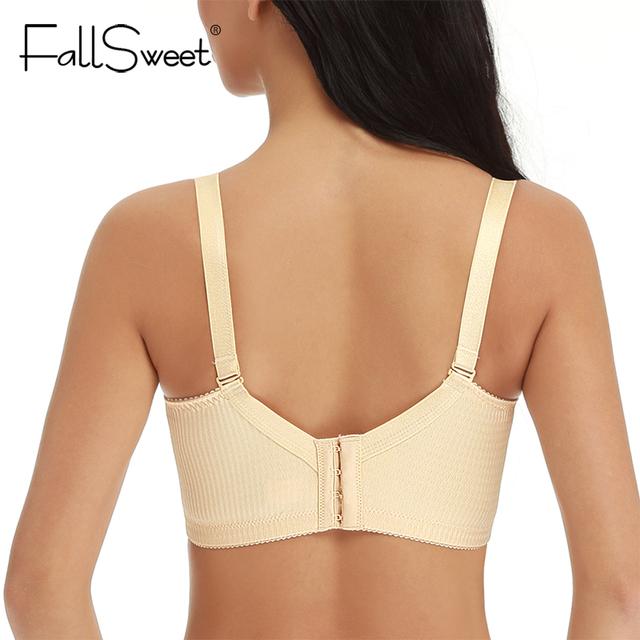 FallSweet Unlined Women Bra Plus Size Seamless Bralette Push Up Bras 44 46 48 50  C D  Large Cup Brassiere
