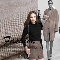 Coarse Woven Wool Fabric Color Granite Ms Windbreaker Jacket Skirt Pants Wool Fabric Autumn And Winter