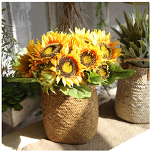 1 Bouquet Elegant Artificial Sunflower Silk Flowers Home Event Wedding Party Decor Flower Decoration