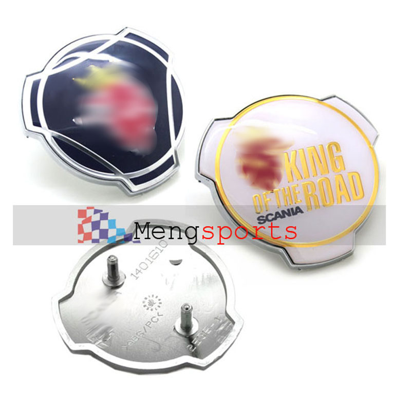50pcs Lots For King of Road Bonnet 78mm Large Car Styling Emblem Badge with Pins DHL Shpping Free