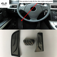 Free shipping 3pcs/lot non punching rest + brake + accelerator pedals for 2005 2012 BMW 3 Series 318 E90 car accessories