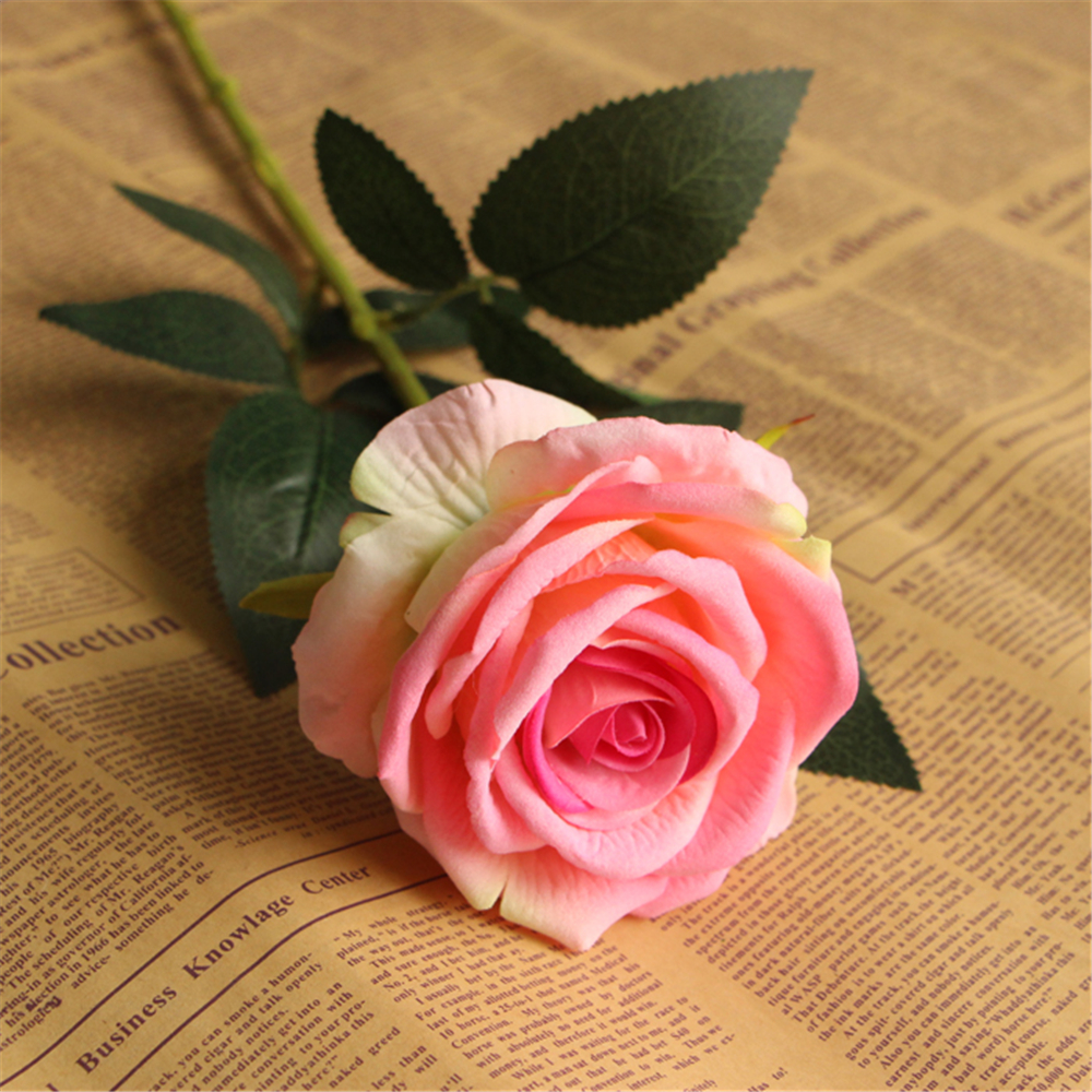 Us 2 37 39 Off Decoration Wedding Flowers Artificial Peony Bouquet Silk Flannel Rose Flower For Home Decoration Table Decoration Flowers In