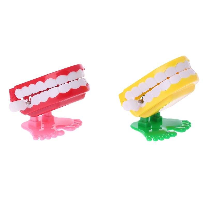 Clockwork Jumping Denture Educational Toys Dentist Desktop Decoration Prank Game Oct20-A