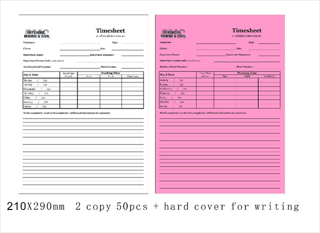 custom 21x29cm 2 parts carbonless invoice book add hard cover for