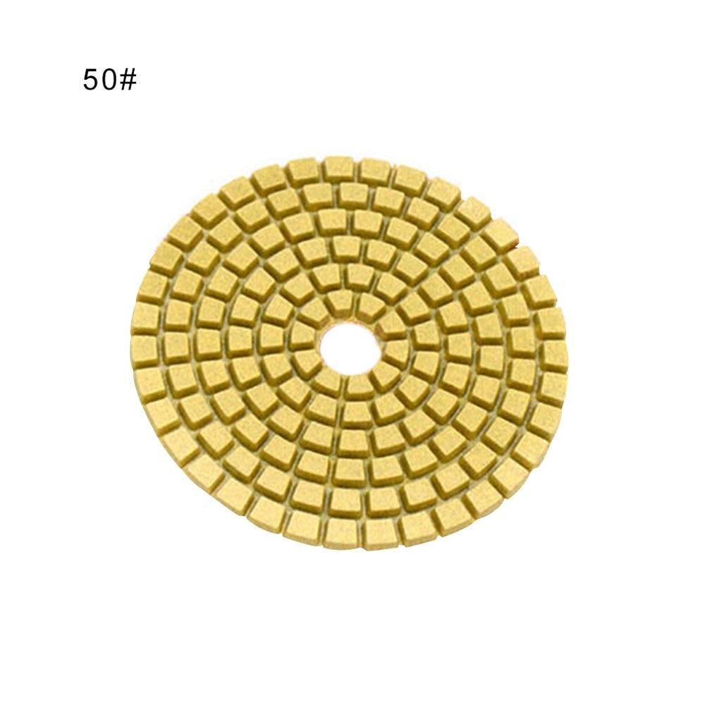 1pc 4 Inch Diamond Polishing Pads Durable Granite Stone Polishing Mat Portable Sanding Disk For Granite Marble