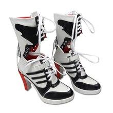 Botas de Comando suicida Harley Quinn Cosplay Anime Custom Accesorios Mujeres Zapatos chaussure de cheville haute