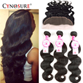 8A Ear To Ear Lace Frontal Closure With Bundles CYNOSURE Hair With Closure Brazilian Virgin Hair With Frontal Closure Bundles