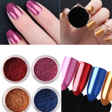 Pretty OutTop 1PC Fashion Glitter Aluminum Flakes Magic Mirror Effect Powders Nail Powder nail glitter DIY Manicure