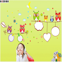 50x70cm Whiteboard&owls In House DIY Wall Stickers Adornment Glass Home Wallpaper decor accessories For Kids Room Gift 8016