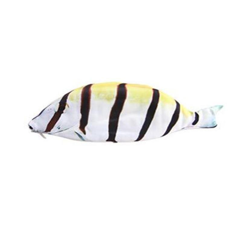 Creative Sea Fish Shape Office Desk Pencil Case Storage Bag Coin Purse Cosmetic Pouch