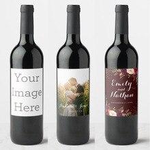 Étiquettes personnalisées pour bouteilles de vin, 20 pièces, adhésives, non étanches, pour anniversaire, mariage