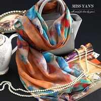 本物の絹の女性のスカーフファッションクラシックチョウセンアサガオinoxia花プリントスカーフ2017春夏冬良い品質ショール