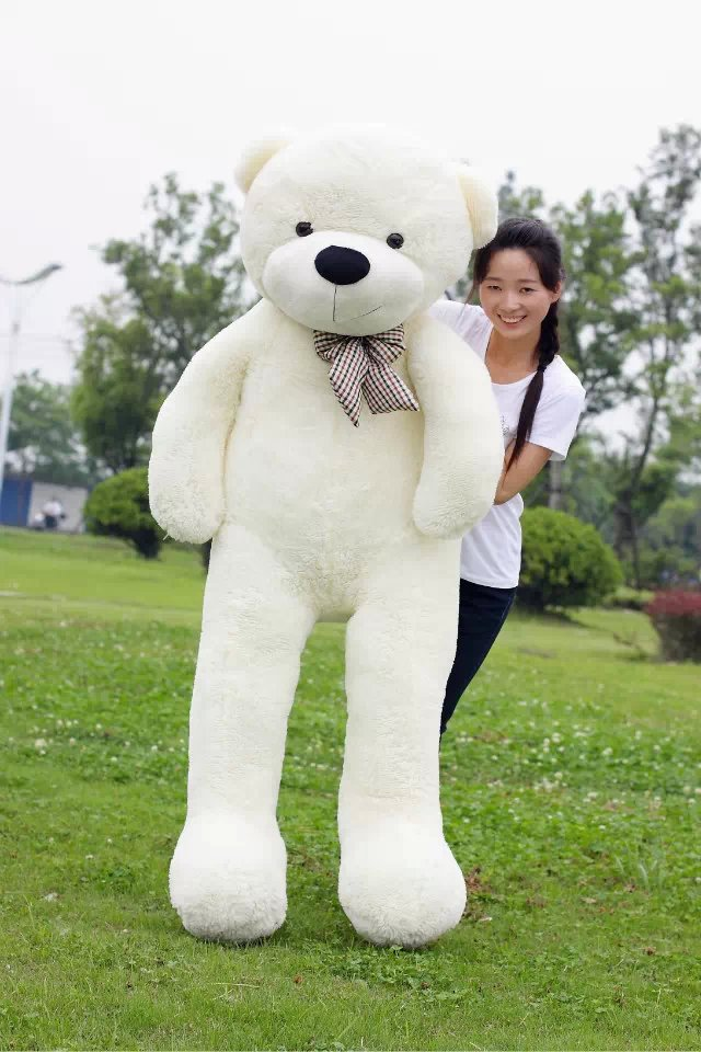 200CM Big JUMBO Teddy Bear Pillow 79'' Giant Stuffed Plush Bear Teddy Best Gift 4 Colors fancytrader new style teddt bear toy 51 130cm big giant stuffed plush cute teddy bear valentine s day gift 4 colors ft90548