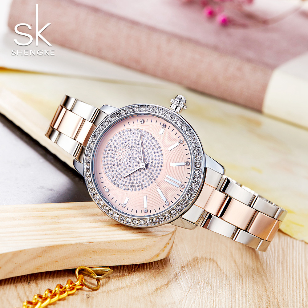 item band silver chain round slim bracelet feminino case crystal relogio from watch dress steel cole quartz brand watches s women taylor in luxury vogue wrist ladies fashion clock