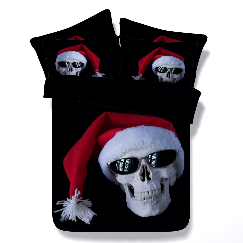 cool bed linen promotionshop for promotional cool bed linen on  -  pcs per set skull theme cool christmas d hd digital pc bed linen set