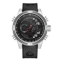 WEIDE New Men LCD Digital Casual Watch 30m Waterproof Original Japan Quartz Black Silicone Strap Fashion