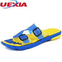 Summer Soft Bottom Buckle Slides Breathable Cool Boys Casual Massage Flip Flop Beach Flats Men Shoes Slipper Sandalias Hombre