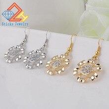 Charm Earrings Flower-Shaped Alloy