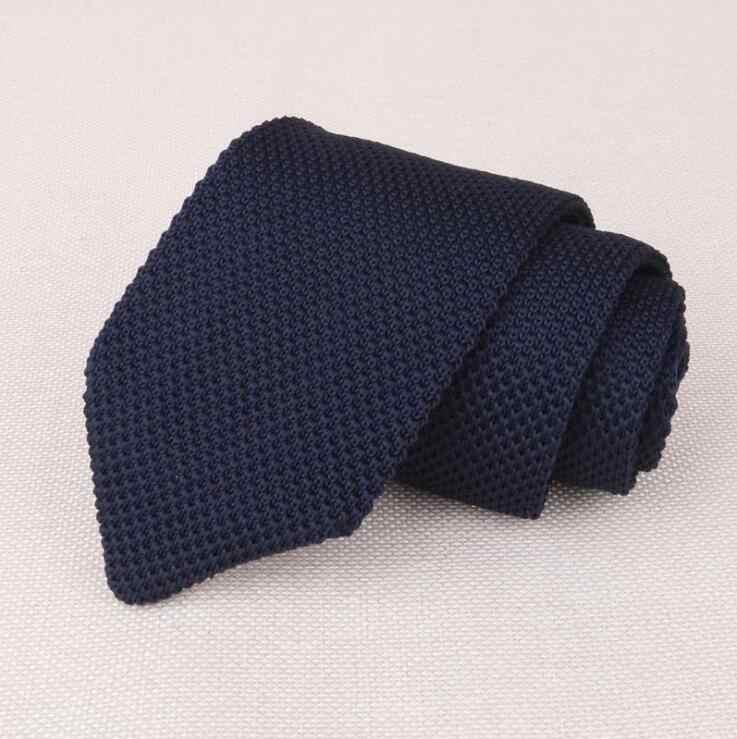 2f5ad3646a1f ... RBOCOTT Striped & Plain Knitted Tie 7 cm Men's Slim Ties Fashion Casual  Skinny Knit Tie ...